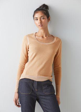 Alida Camel Cotton-Merino Wool Jumper