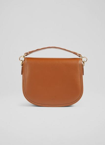 Molly Tan Leather Shoulder Bag