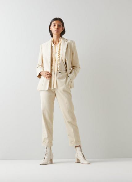 Savannah Cream Cotton Cord Trousers
