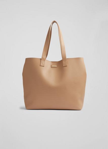 Abbie Tan Leather Tote Bag
