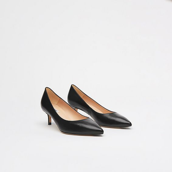 Audrey Black Leather Courts