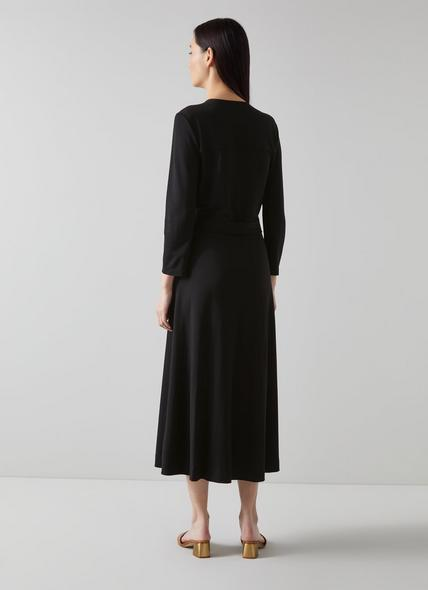Juno Black Wrap Dress