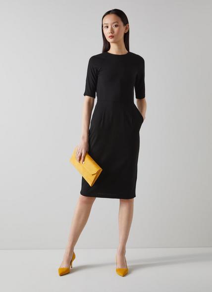 Liya Black Jersey Dress