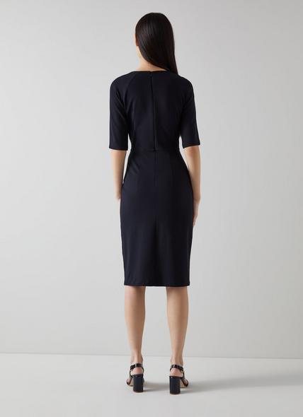 Liya Navy Jersey Dress