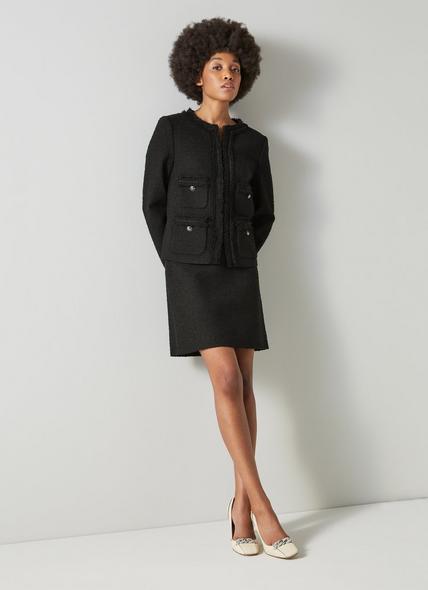 Charlee Black Tweed Jacket
