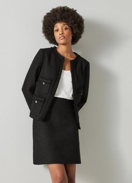 Charlee Black Tweed Jacket