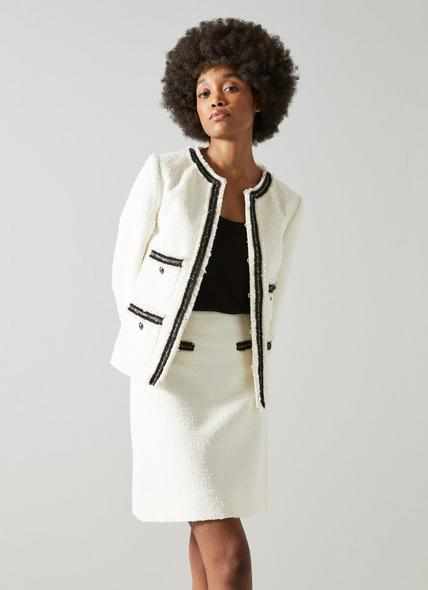 Charlee Cream Tweed Jacket