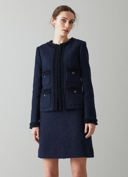Charlee Navy Tweed Jacket