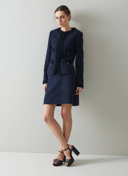 Charlee Navy Tweed Jacket