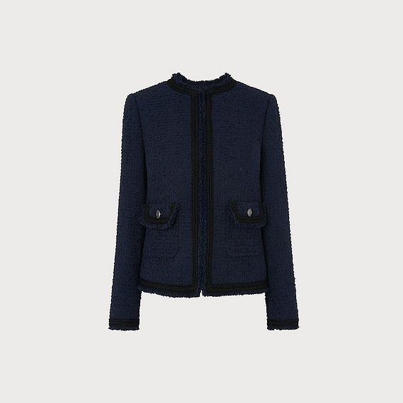 Mercer Navy Tweed Jacket