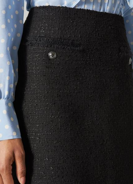 Charlee Black Tweed Skirt