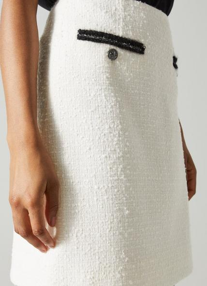 Charlee Cream Tweed Skirt