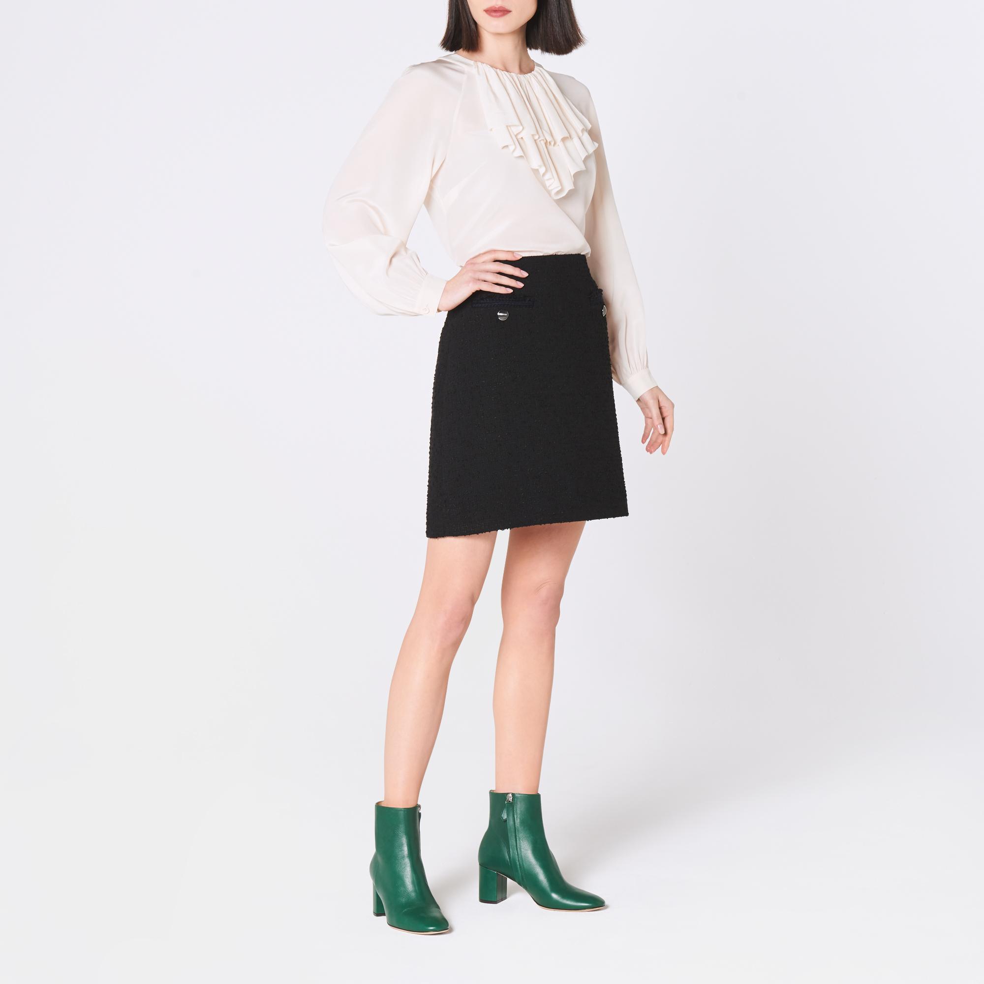 Mercer Black Tweed Mini Skirt by L.K.Bennett