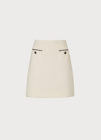 Mercer Cream Tweed Mini Skirt