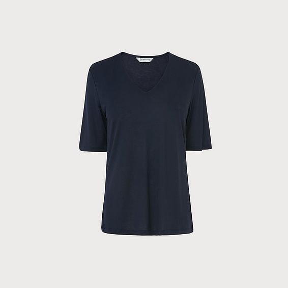 Trisha Navy Jersey Top