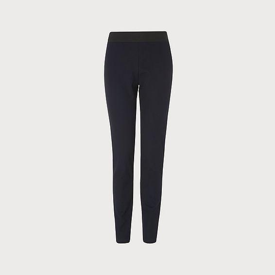 Adelle Navy  Skinny Leg Trousers
