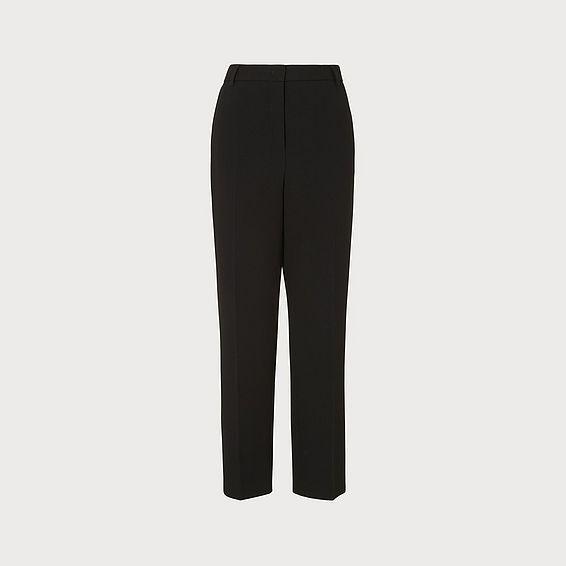 Frieda Black Crepe Cigarette Trousers
