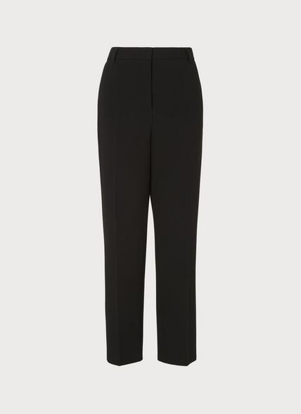 Frieda Black Crepe Cigarette Trousers
