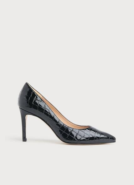 Floret Black Croc Effect Courts