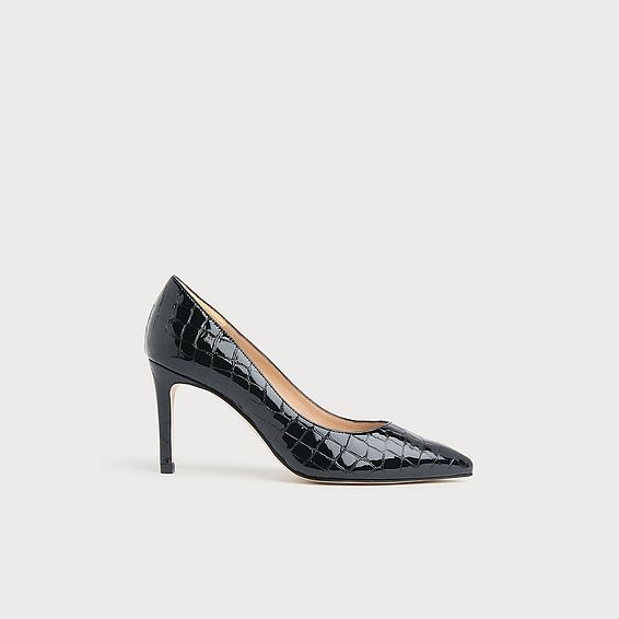 Floret Black Croc Effect Courts