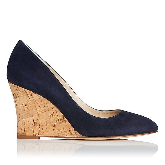 Eila Navy Suede Closed Courts