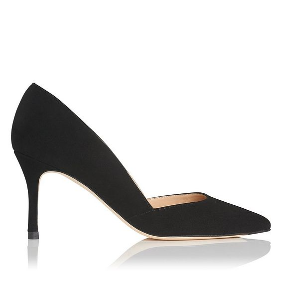 Elena Black Suede Courts