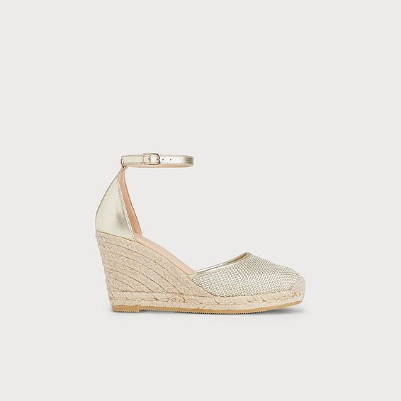 Halle Soft Gold Espadrille Sandals