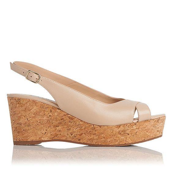 Marcia Grey Leather Sandals