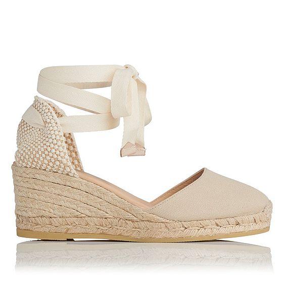 Maureen Sand Cotton Espadrille Sandals
