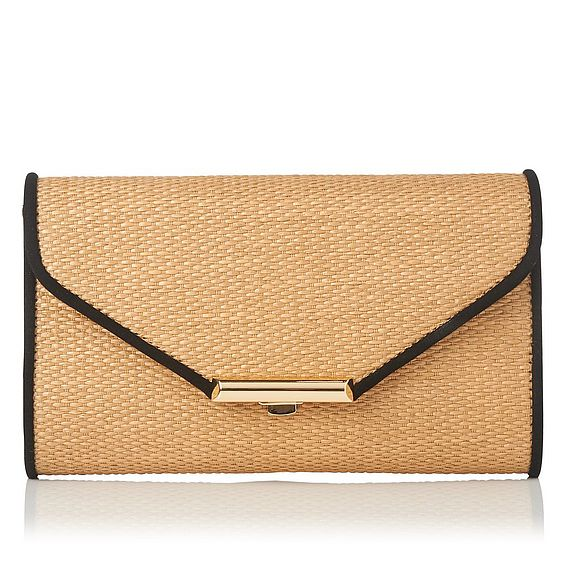Sissi Brown Raffia Clutch