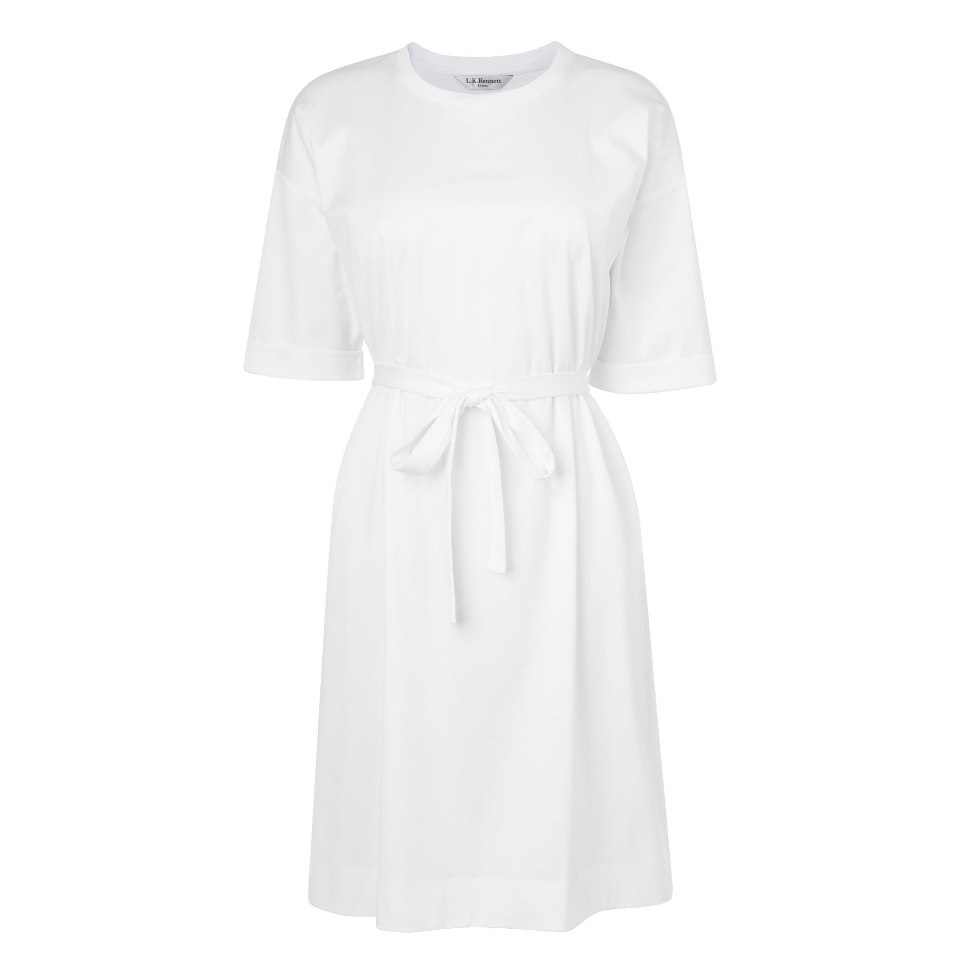 Adana White Jersey Dress