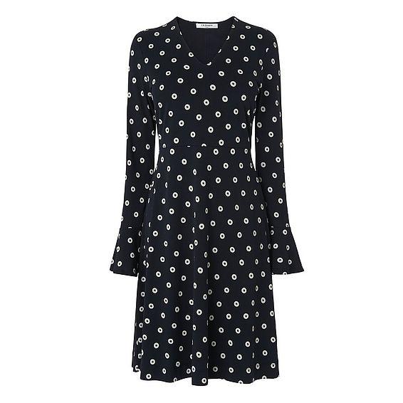 Aman Black Cream Jersey Dress