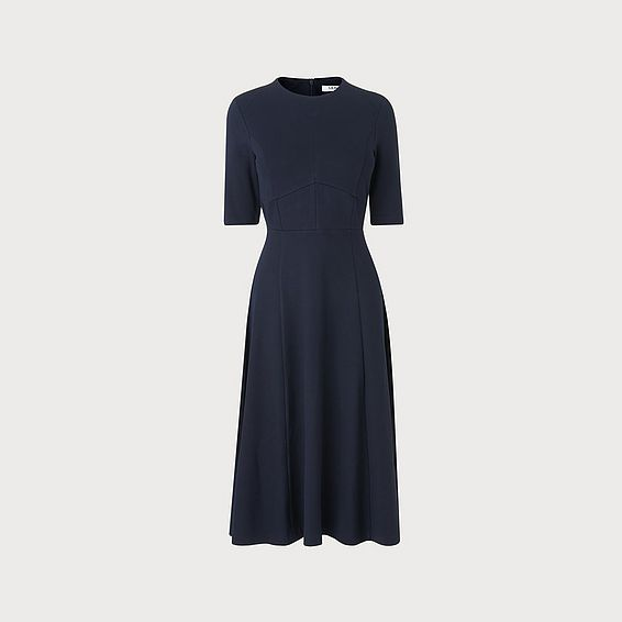 Bethan Navy Jersey Dress