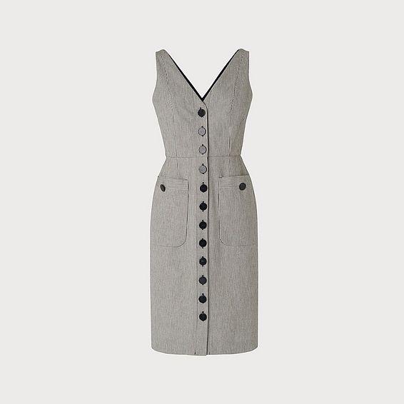 Juliet Navy Cream Cotton Dress