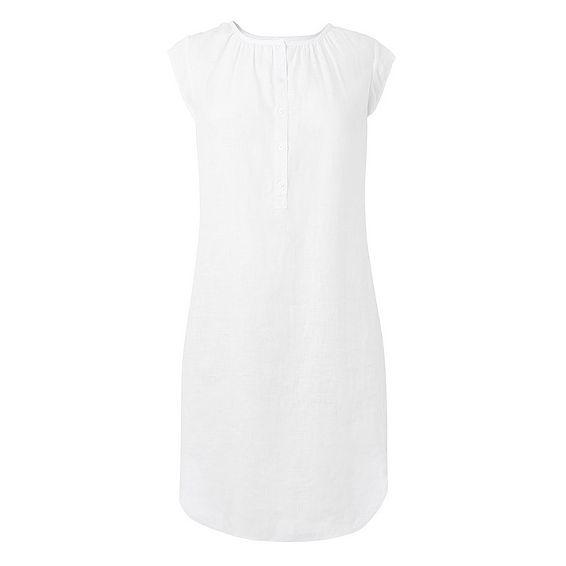 Karla White Linen Dress