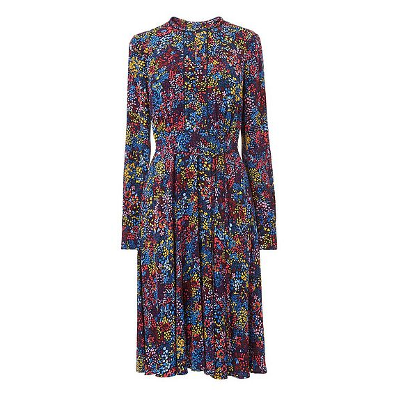 Letisa Blue Floral Dress