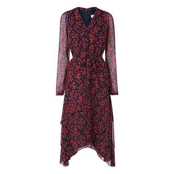 Licia Blue Geranium Silk Dress