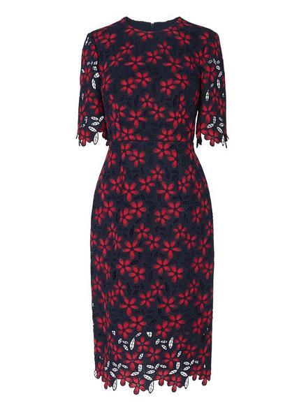 Luann Blue Geranium Dress