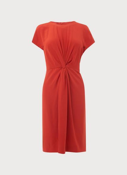 Milas Poppy Silk Dress