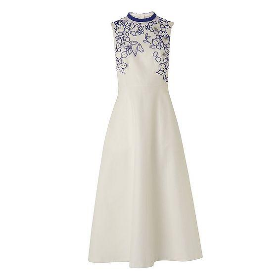 Verity Cream Cotton Silk Dress