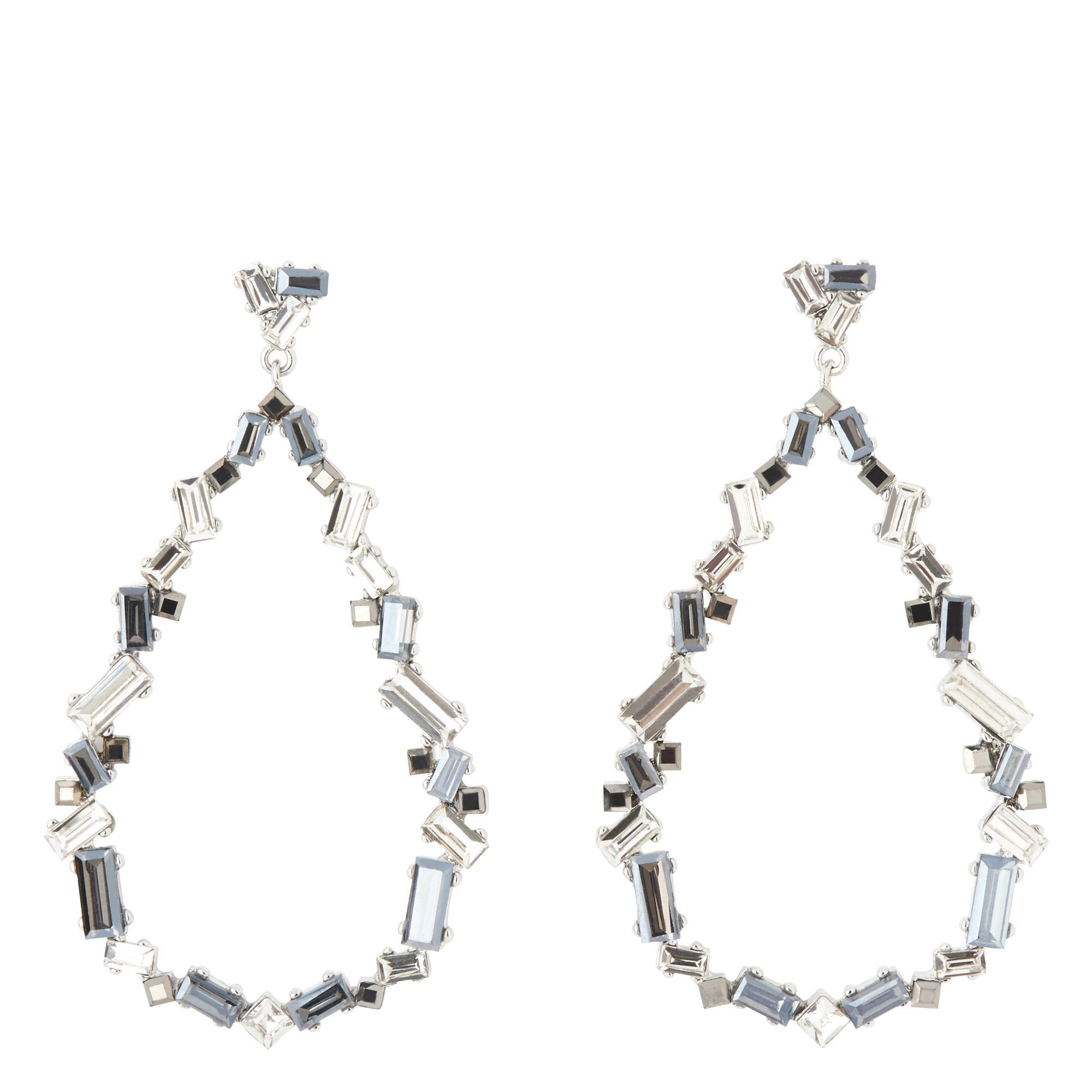 Adrianna Black Crystal Diamond Earrings