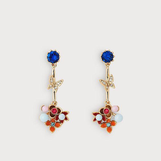 Maddie Crystal Pearl Earrings