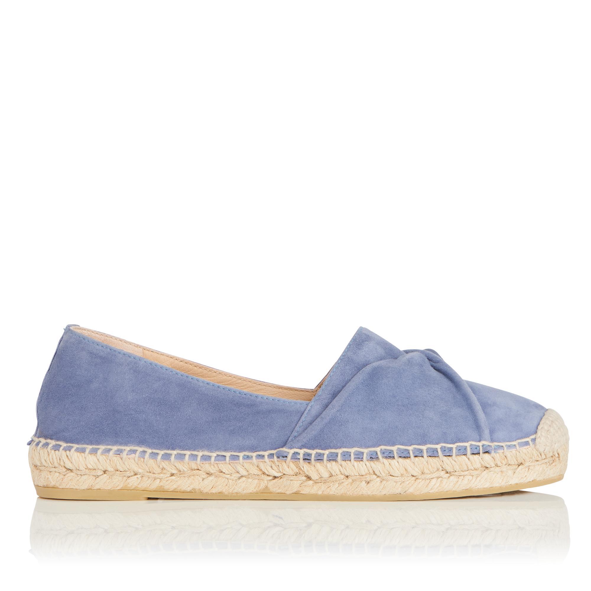 Abigail Blue Suede Espadrille Flats