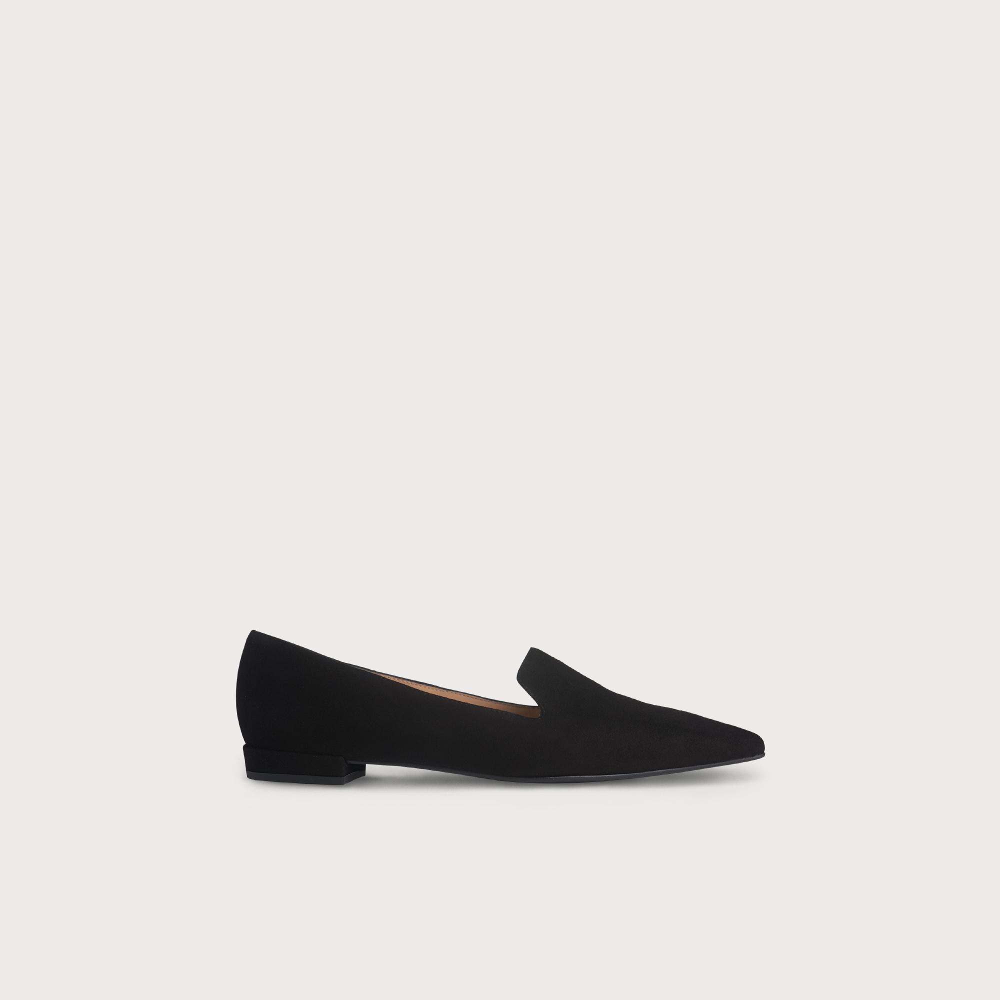 Arie Black Suede Flats