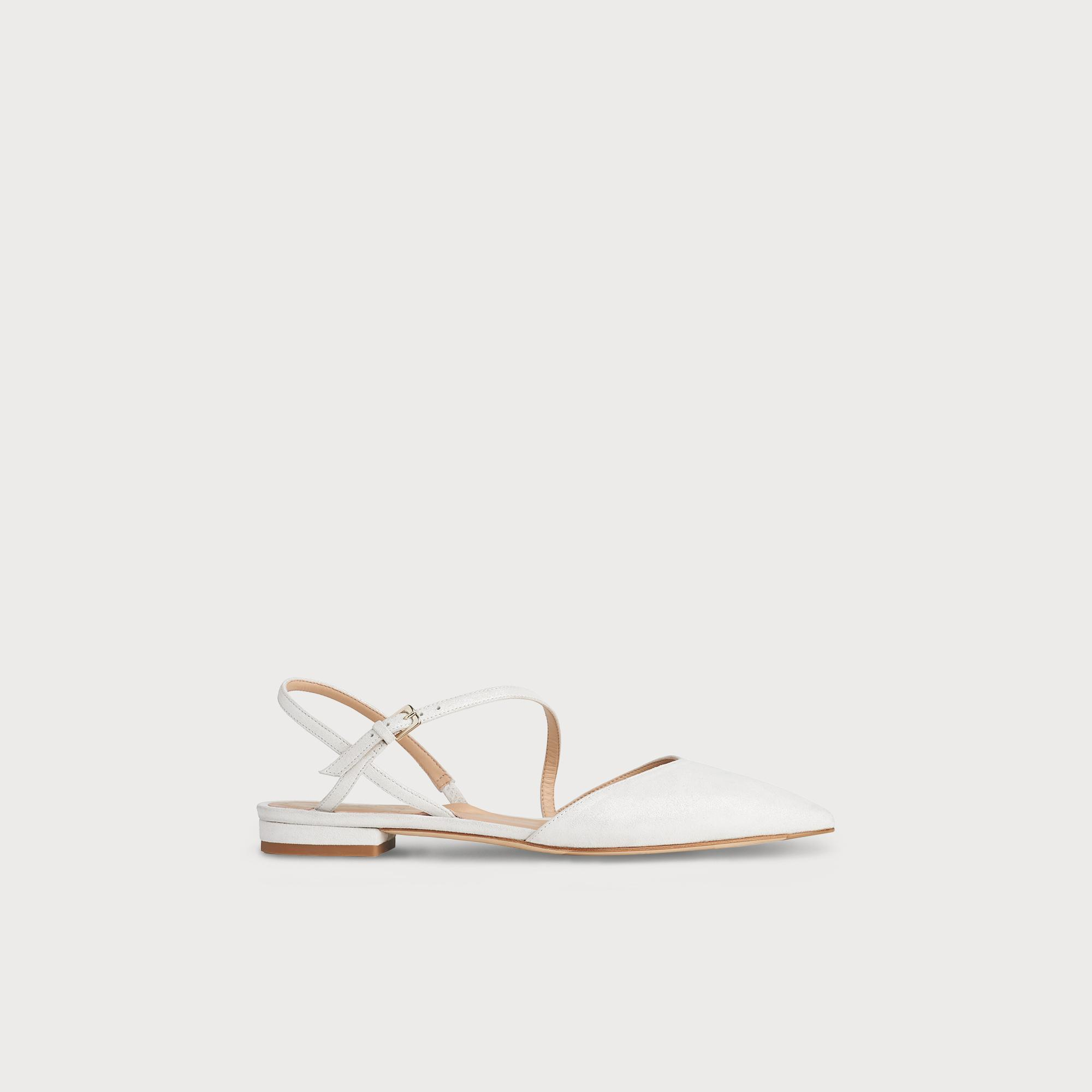 b36b3e574e1e Cari Ivory Shimmer Suede Flats | Shoes | L.K.Bennett