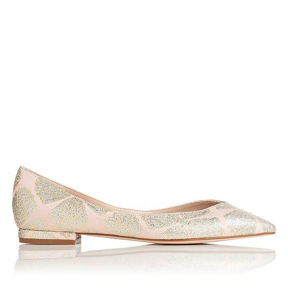 Luisa Pink Jacquard Flats