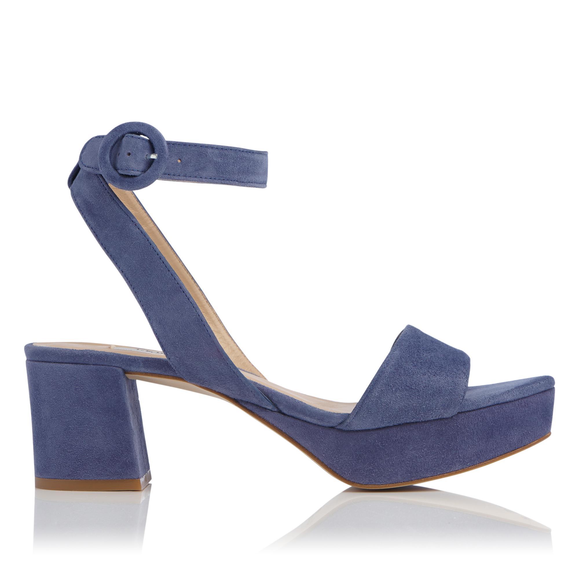 Alie Blue Suede Sandals
