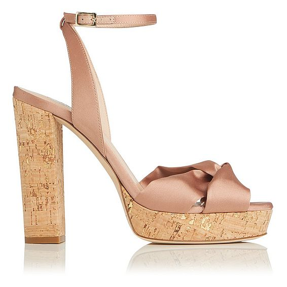 Annabella Rose Satin Sandals