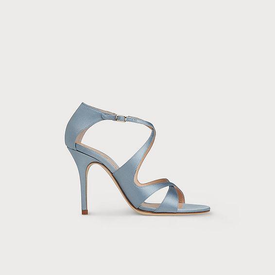 26548b39a101 Brielle Blue Satin Sandals