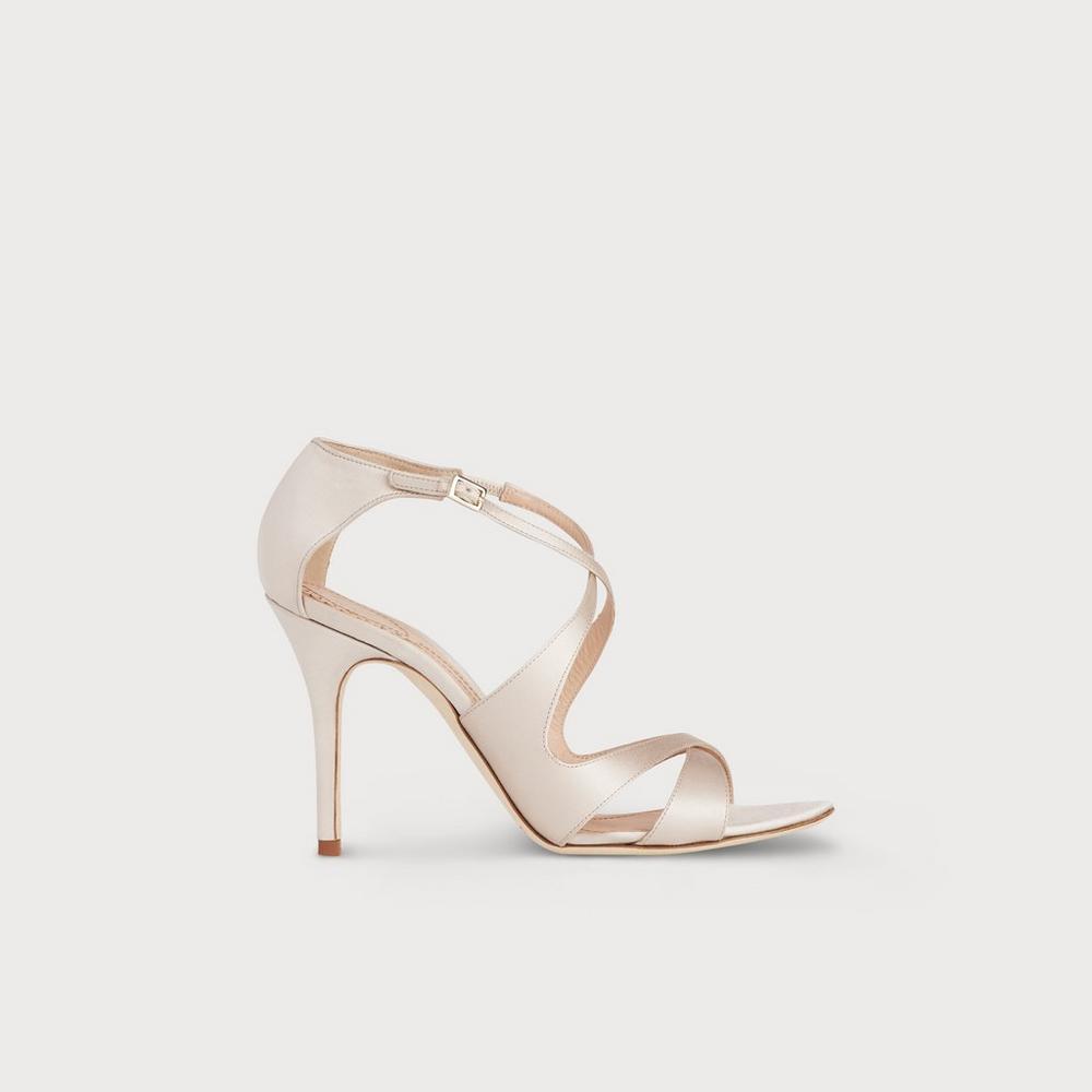 c3b73619b71 Brielle Nude Satin Sandals